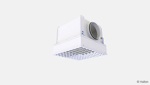 diffusore Halton VHT left per poteggere un ambiente indoor con filtrazione aria da virus e batteri solving italia soltec