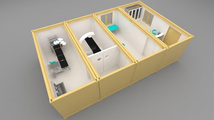 unità di isolamento - container isolato mobile con diverse funzioni ventilazione controllata sicurezza assicurata halton solving italia srl