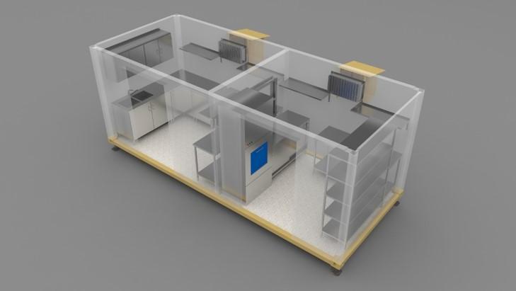 unità mobile di isolamento halton